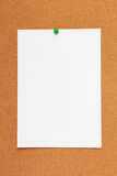 Corkboard background with paper Stock Photos