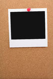 Corkboard and blank photo Royalty Free Stock Photo