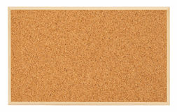 Corkboard (bulletin board). Isolated on white Royalty Free Stock Photo