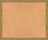 Corkboard cork noticeboard. A nice large image of a cork board with frame Royalty Free Stock Photos