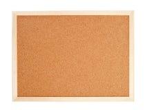 Corkboard en blanco con un marco de madera Fotos de archivo libres de regalías