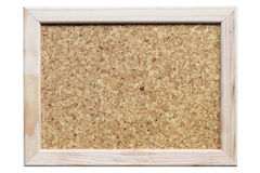 Corkboard in frame Royalty Free Stock Photography