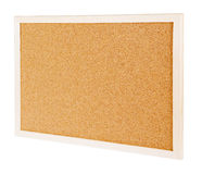 Corkboard isolated on white Stock Photos