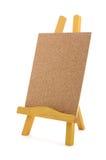Corkboard met houten tribune royalty-vrije stock foto