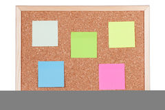 corkboard notatki Obrazy Stock