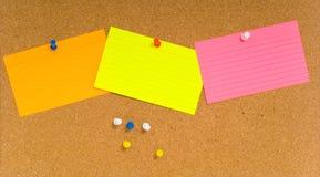 corkboard notecard Obraz Stock