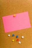 corkboard notecard zdjęcie stock