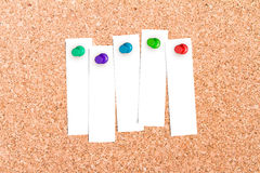 Corkboard with pins Royalty Free Stock Photos