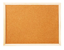 Corkboard on white background Royalty Free Stock Photography