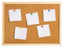 Corkboard on white background Royalty Free Stock Image