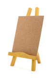 Corkboard with wooden stand Royalty Free Stock Photo