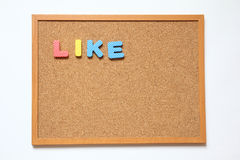 Corkboard with wording like Stock Images