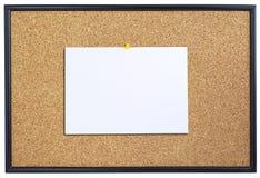 Corkboard z prześcieradłem papier. Obrazy Stock