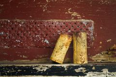 Corke de vin des vins rouges célèbres Image libre de droits