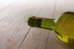 Corked bottle of white wine Royalty Free Stock Photo
