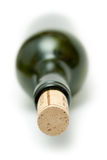 Corked Green Wine Bottle Stock Image