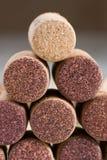 corks вино используемое пирамидкой стоковое изображение