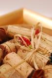 corks золотистая плита стоковое изображение
