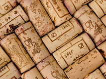 Corks. View in close up of some corks Stock Image
