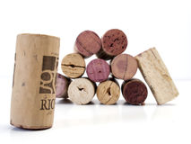 isolated Corks on white background Royalty Free Stock Photo