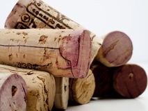 Corks. Wine bottle corks stacked together Royalty Free Stock Photography