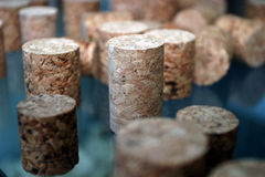 Corks. Some plugs made from cork ,detail Royalty Free Stock Photo