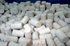 Corks. Some plugs made from cork ,detail Royalty Free Stock Photos