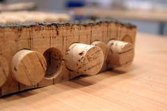 Corks. Some plugs made from cork ,detail Royalty Free Stock Image