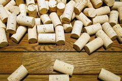 Corks. A bunch of yellow corks plugs close up Royalty Free Stock Images