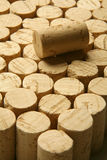 Corks!. Multiple corks in vertical position, one laid down Royalty Free Stock Images