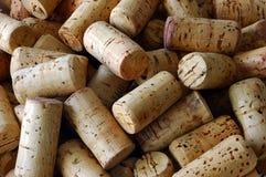 Corks. Close-up of wine corks stock image