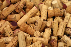 Corks. A mass of winebottle corks Royalty Free Stock Photos