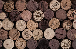 Corks Are Stacked With A Vintage Filter Applied