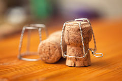 Corks from bottles of champagne Royalty Free Stock Photos