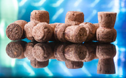 Corks from bottles. Corks from champagne and sparkling wine Stock Photo