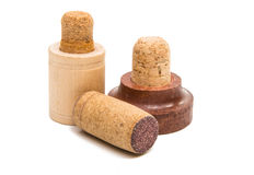 Corks for bottles isolated Royalty Free Stock Images