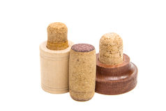 Corks for bottles isolated Stock Images