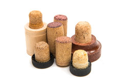 Corks for bottles isolated Royalty Free Stock Photography