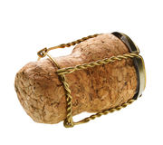 Corks from champagne bottle isolated Royalty Free Stock Images