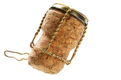 Corks from champagne bottle isolated Stock Images