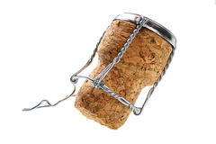 Corks from champagne bottle isolated Stock Photo