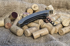 Corks with corkscrew Stock Image
