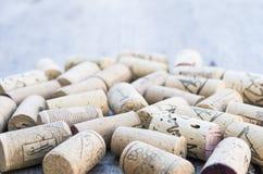 Corks with corkscrew Stock Photo