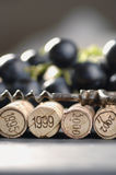 Corks and corkscrew Stock Image