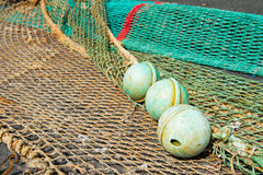 Corks and fishing nets Stock Photos
