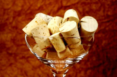 Corks in a Glass Royalty Free Stock Image