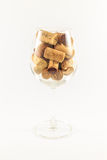 corks glass wine Arkivbilder