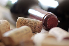 Corks on a heap Stock Photo