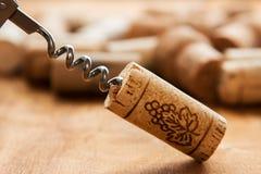 corks korkskruvet Royaltyfri Bild