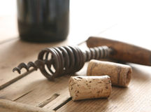Corks and opener Stock Photo